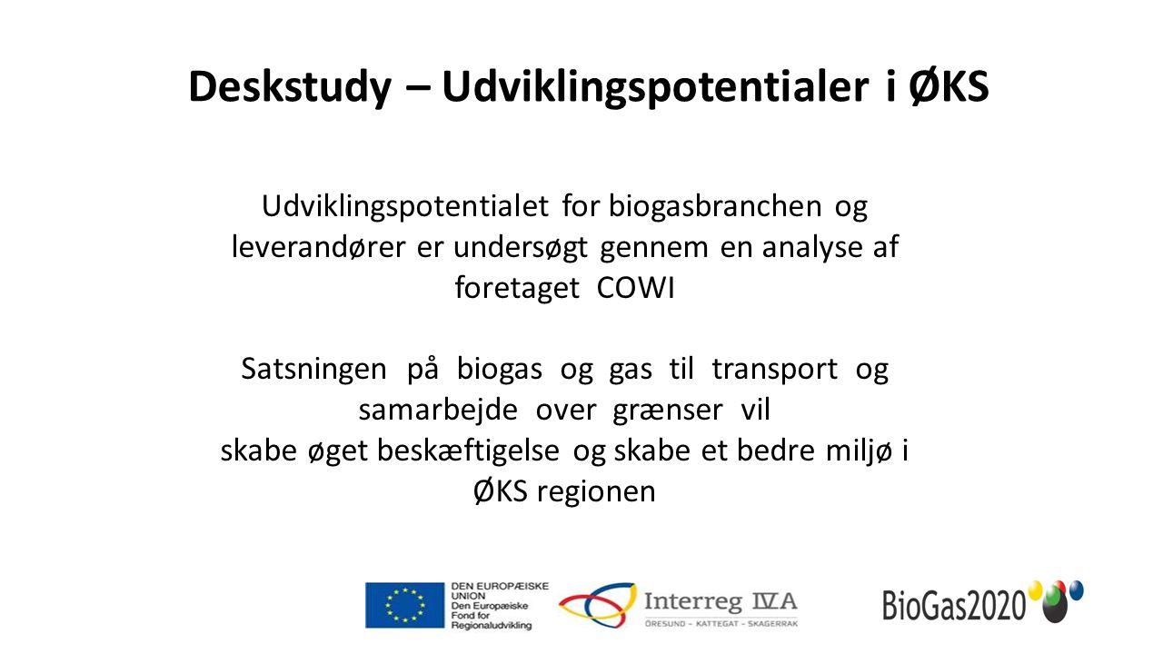 Udviklingspotentialet for biogasbranchen og leverandører er undersøgt gennem en analyse af foretaget COWI Satsningen på biogas og gas til transport og