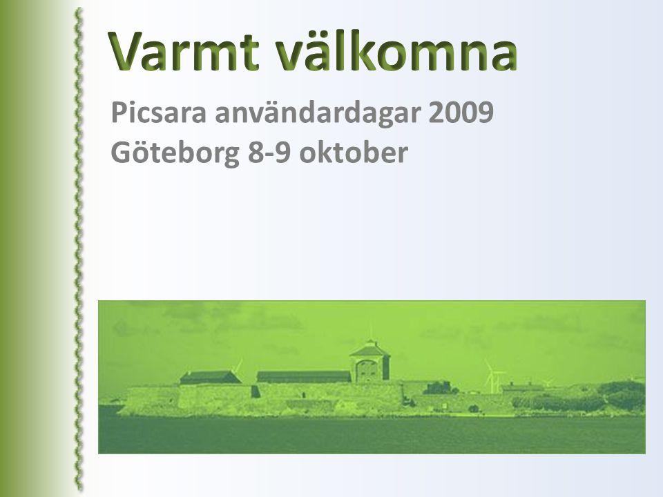 Picsara användardagar 2009 Göteborg 8-9 oktober