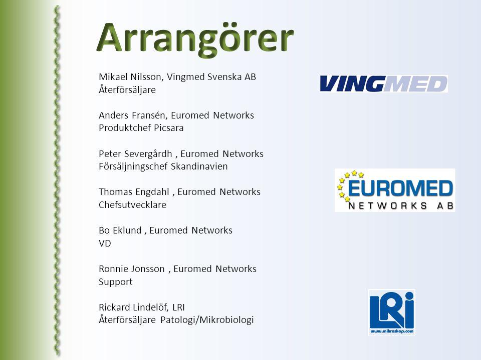 Mikael Nilsson, Vingmed Svenska AB Återförsäljare Anders Fransén, Euromed Networks Produktchef Picsara Peter Severgårdh, Euromed Networks Försäljnings