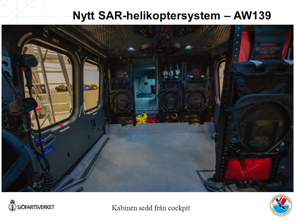 Kabinen sedd från cockpit Nytt SAR-helikoptersystem – AW139