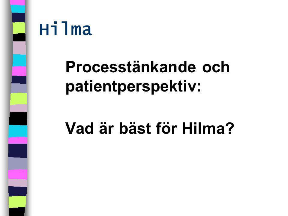 Processtänkande och patientperspektiv: Vad är bäst för Hilma Hilma