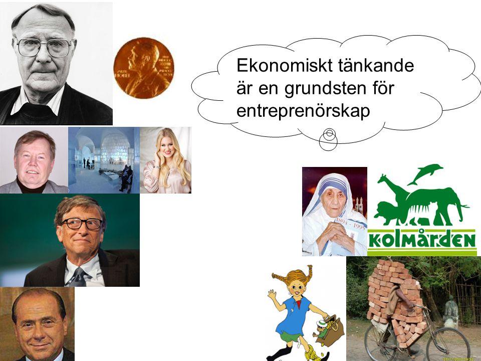 Ekonomiskt tänkande är en grundsten för entreprenörskap