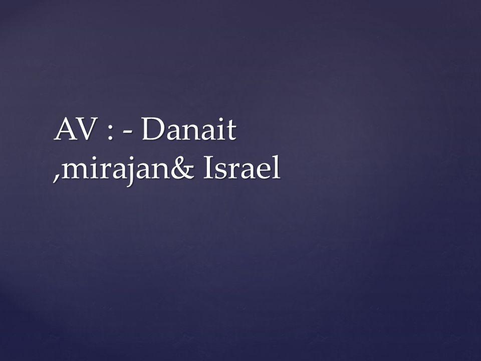 AV : - Danait,mirajan& Israel