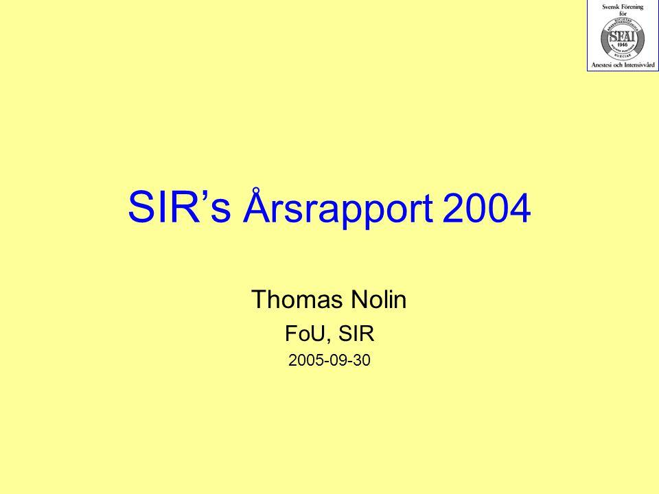 2005-09-20.Thomas Nolin, FoU, SIR.72 Överlevnadskurva 2004 SIR Data 2004 (2005-05-01 & 2005-07-21).
