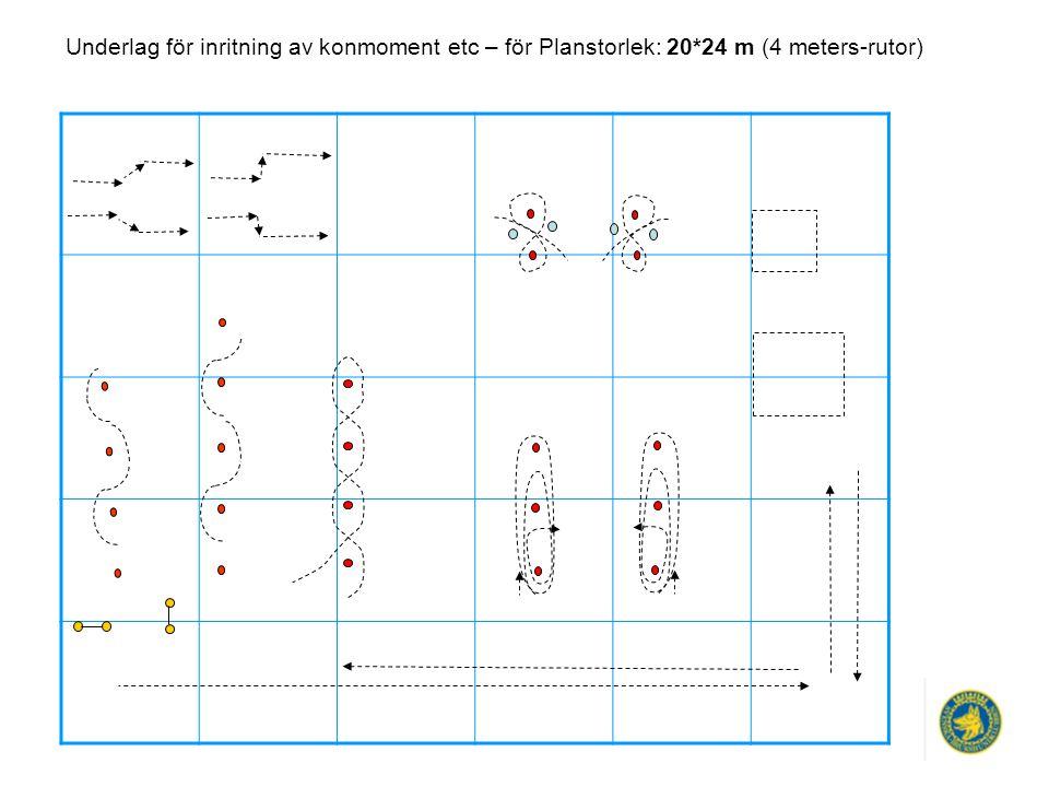 Underlag för inritning av konmoment etc – för Planstorlek: 20*24 m (4 meters-rutor)