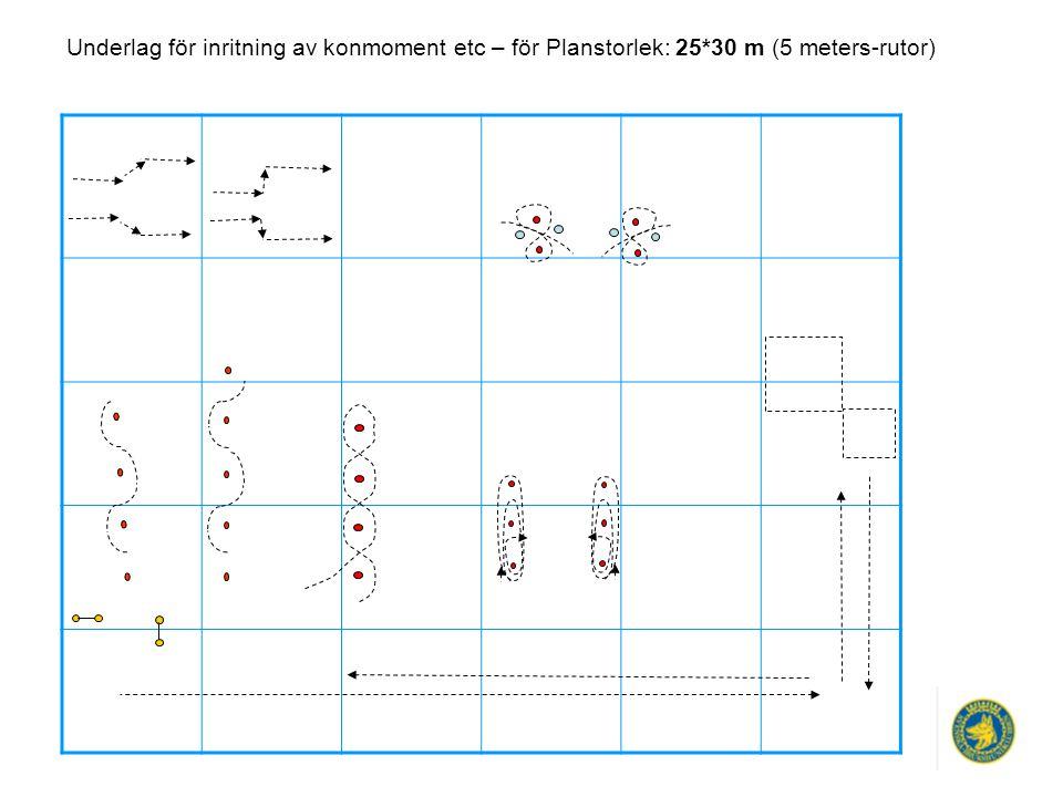 Underlag för inritning av konmoment etc – för Planstorlek: 25*30 m (5 meters-rutor)