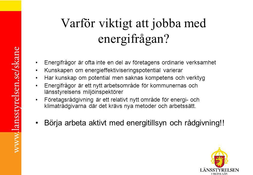 Varför viktigt att jobba med energifrågan.
