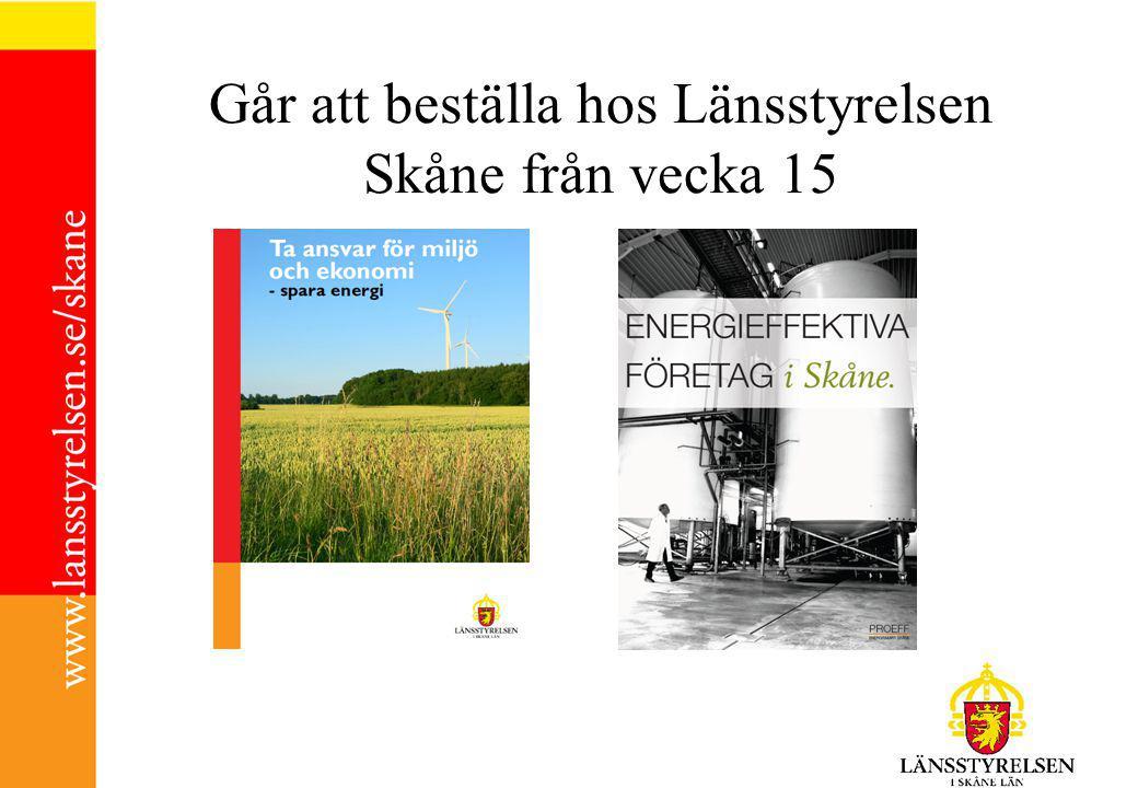 Går att beställa hos Länsstyrelsen Skåne från vecka 15
