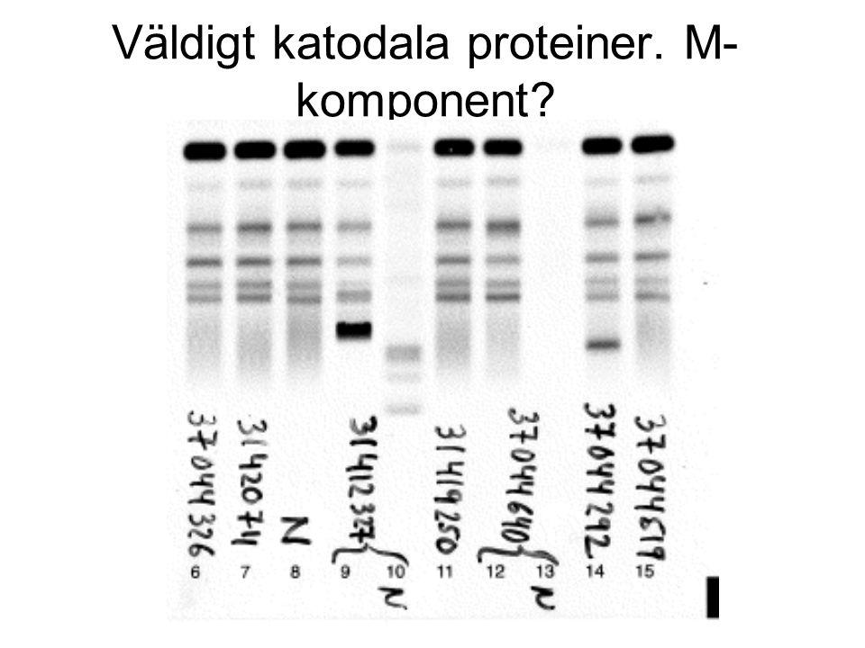 Väldigt katodala proteiner. M- komponent?