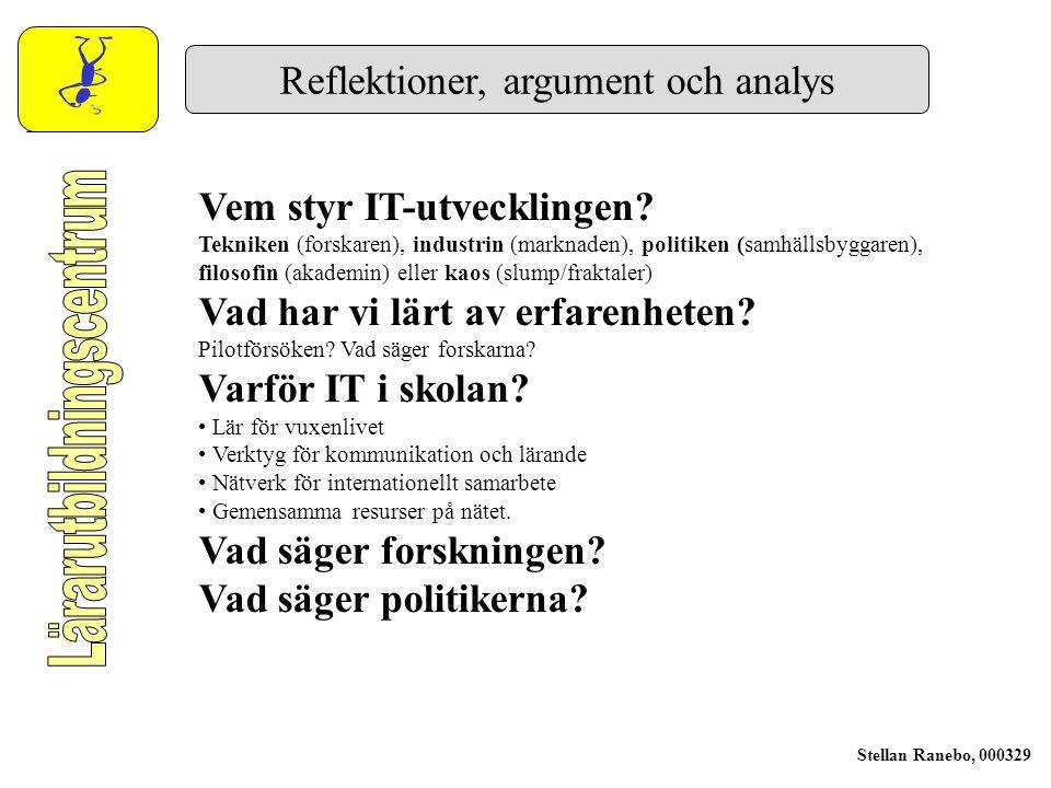 Lärarutbildningens strategier och lösningar F Genomför kontinuerlig omvärldsanalys.