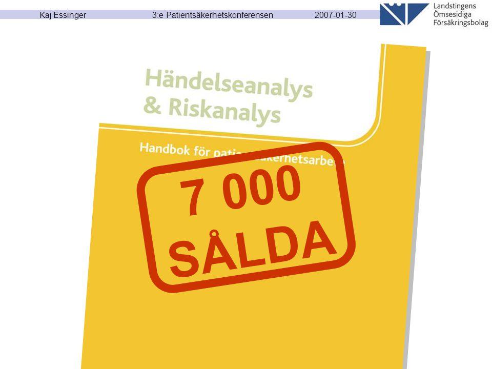 2007-01-30 Kaj Essinger 3:e Patientsäkerhetskonferensen 7 000 SÅLDA