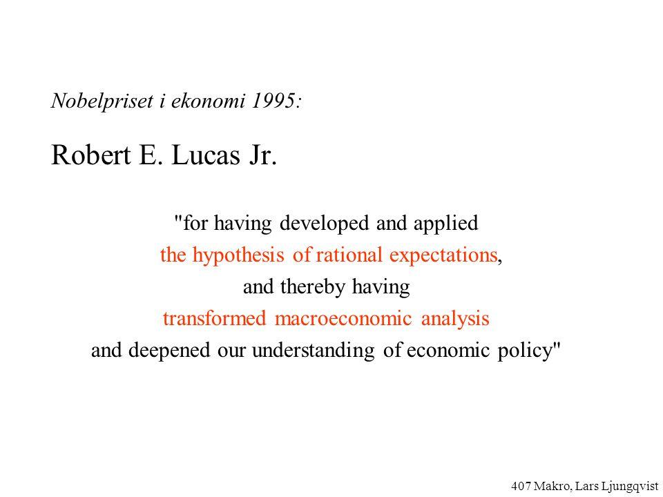 Nobelpriset i ekonomi 1995: Robert E.Lucas Jr.
