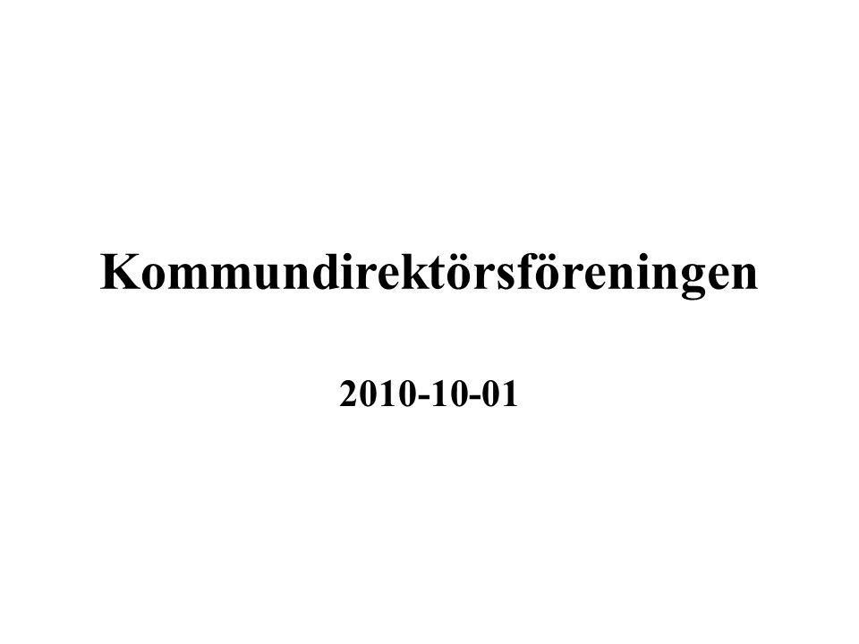 Kommundirektörsföreningen 2010-10-01