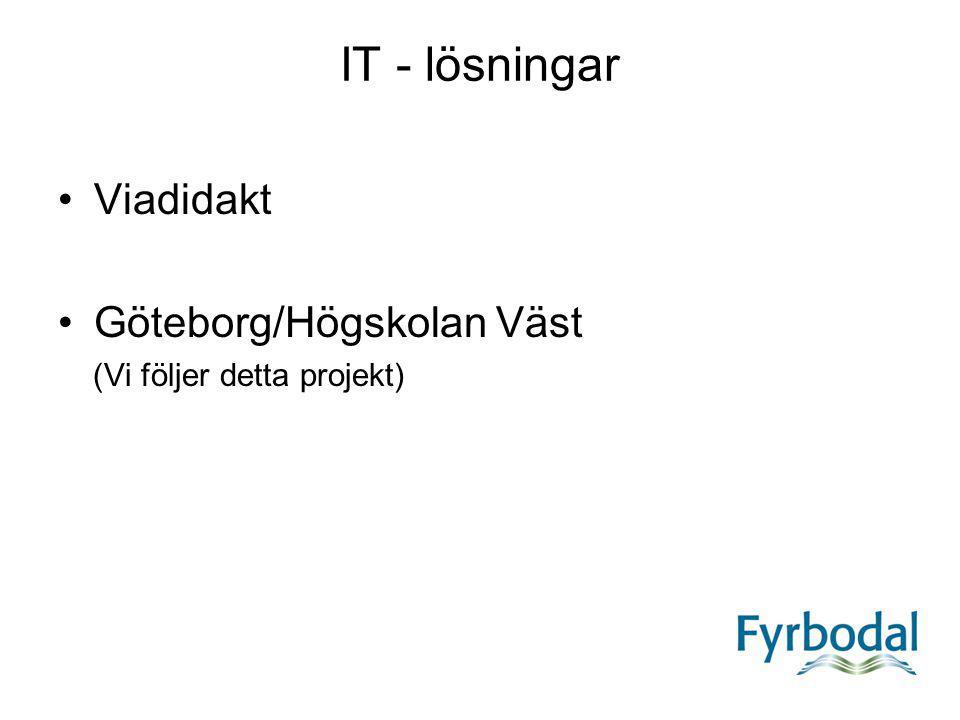 IT - lösningar Viadidakt Göteborg/Högskolan Väst (Vi följer detta projekt)