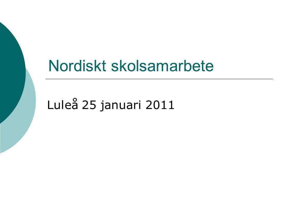 Nordiskt skolsamarbete Luleå 25 januari 2011