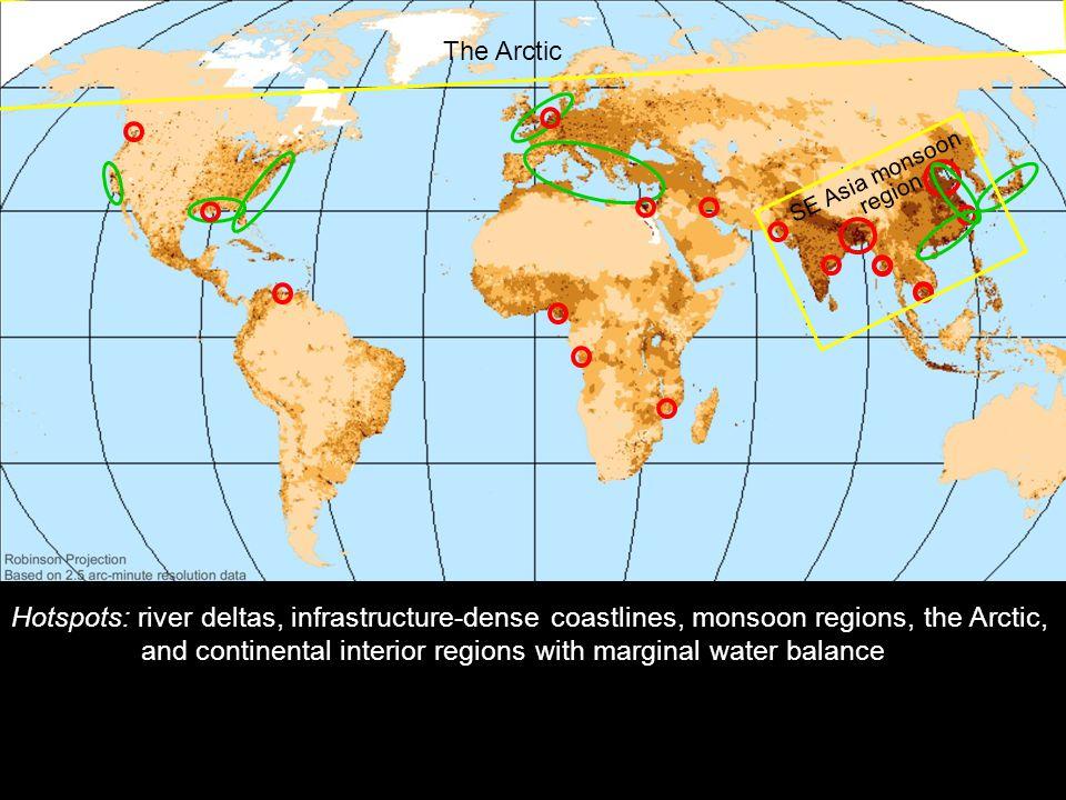 2014-12-12 Johan Kleman, Professor, Instutitionen för naturgeografi och kvartärgeologi 23 Världskarta med känsliga områden The Arctic SE Asia monsoon