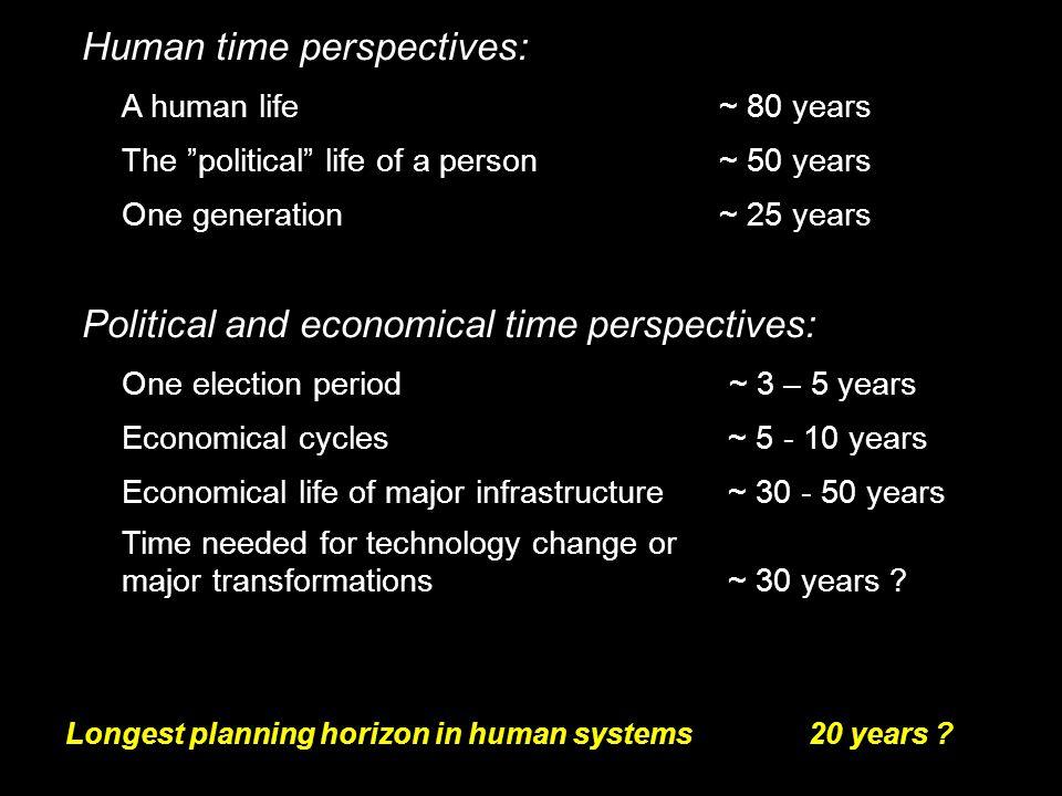 """2014-12-12 Johan Kleman, Professor, Instutitionen för naturgeografi och kvartärgeologi 25 Human time perspectives: A human life ~ 80 years The """"politi"""