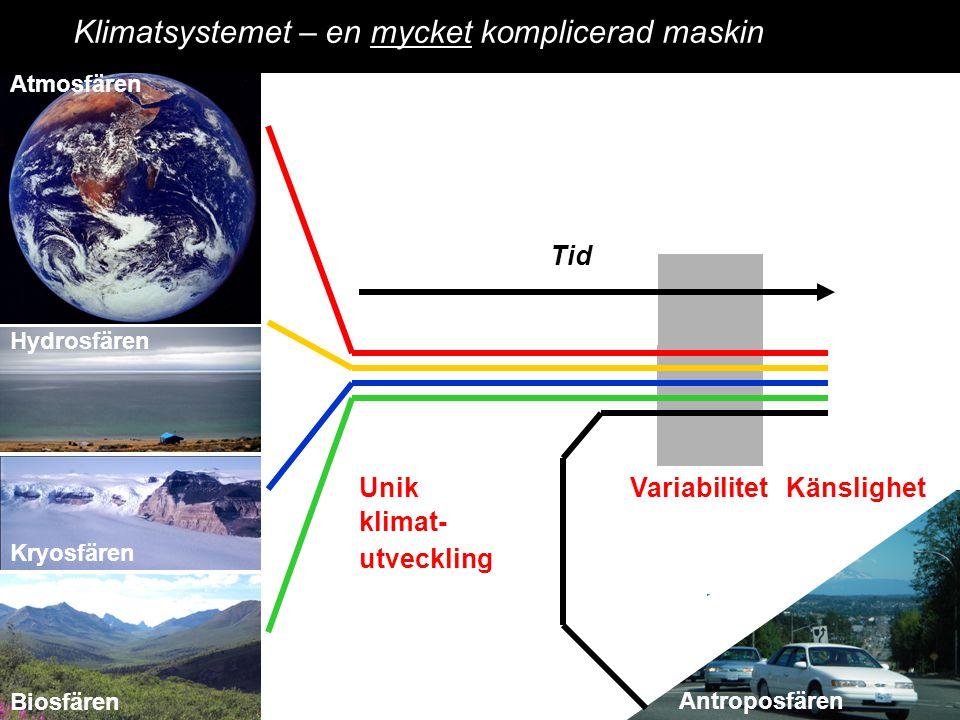 2014-12-12 Johan Kleman, Professor, Instutitionen för naturgeografi och kvartärgeologi 6 Atmosfären Kryosfären Hydrosfären Geological data Experiments