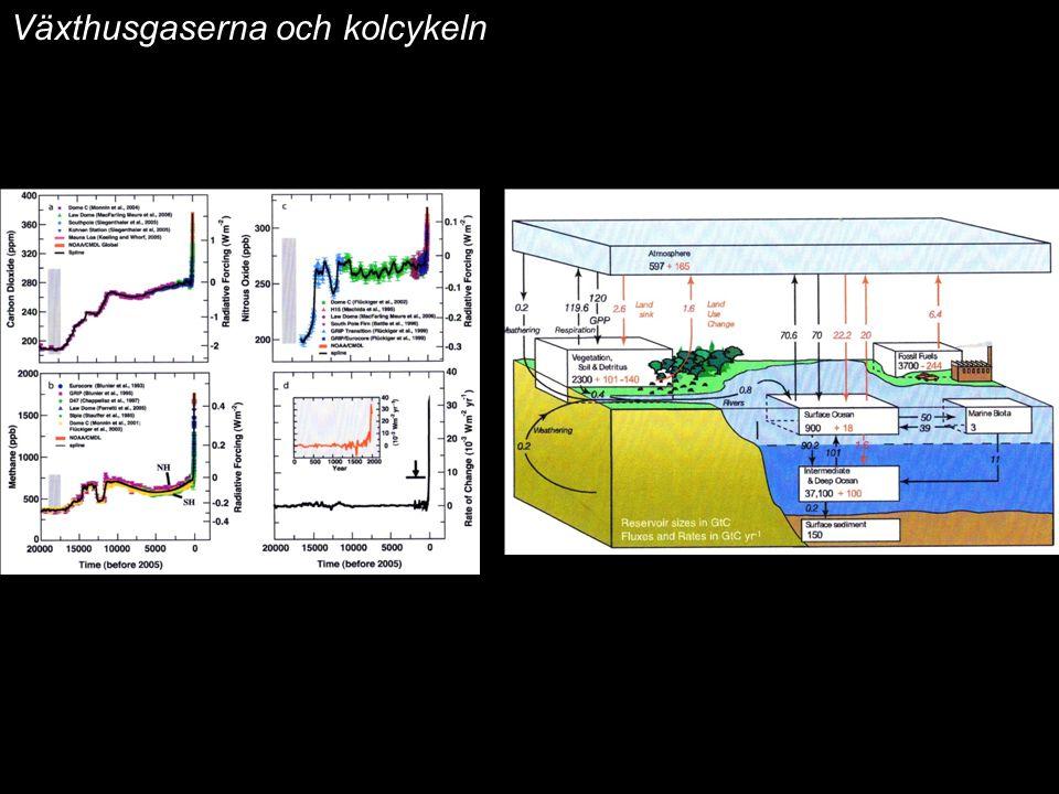 2014-12-12 Johan Kleman, Professor, Instutitionen för naturgeografi och kvartärgeologi 7 Växthusgaserna och kolcykeln