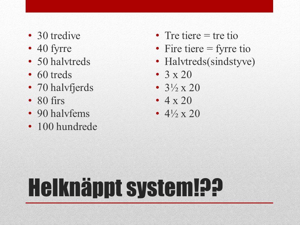 Helknäppt system!?.