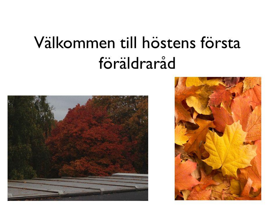 Välkommen till höstens första föräldraråd