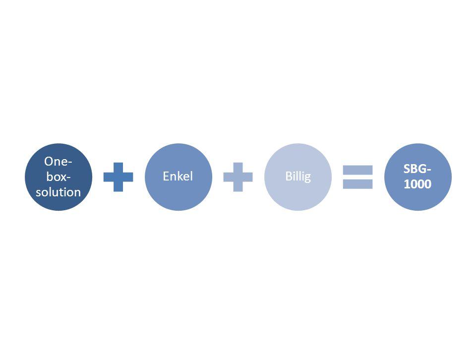 One- box- solution EnkelBillig SBG- 1000