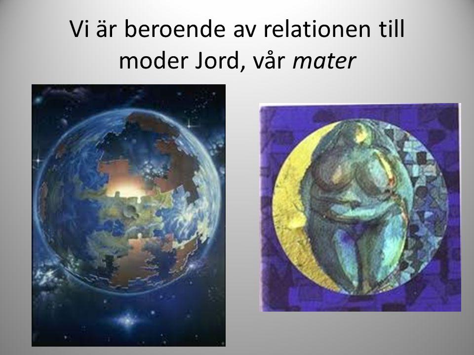 Vi är beroende av relationen till moder Jord, vår mater