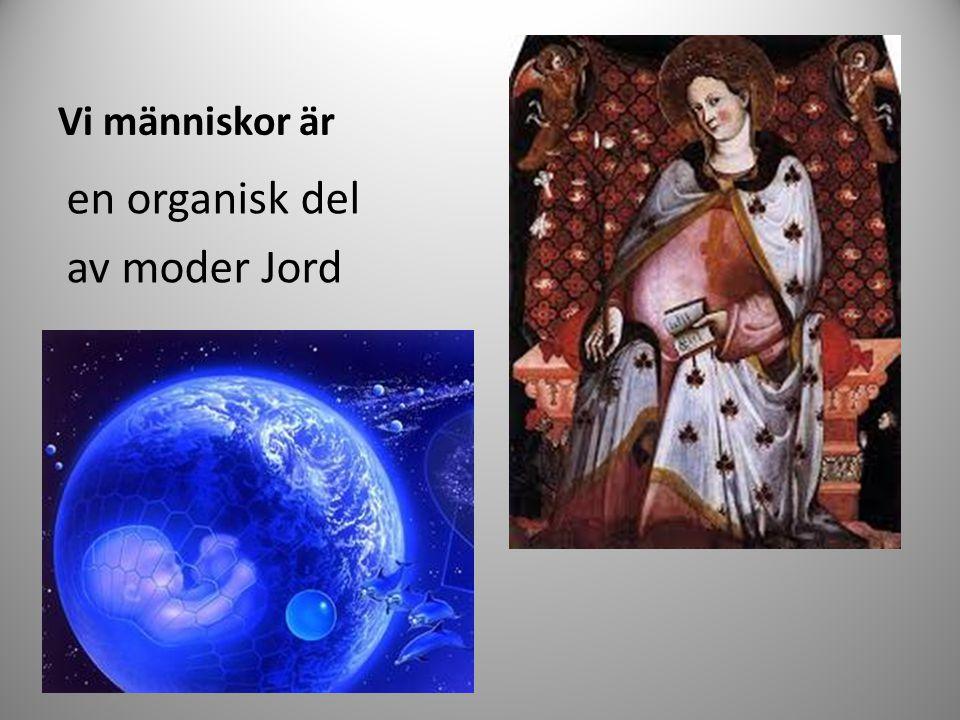 Vi människor är en organisk del av moder Jord