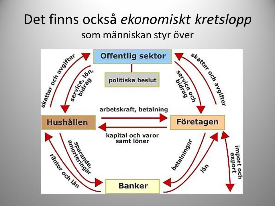 Det finns också ekonomiskt kretslopp som människan styr över