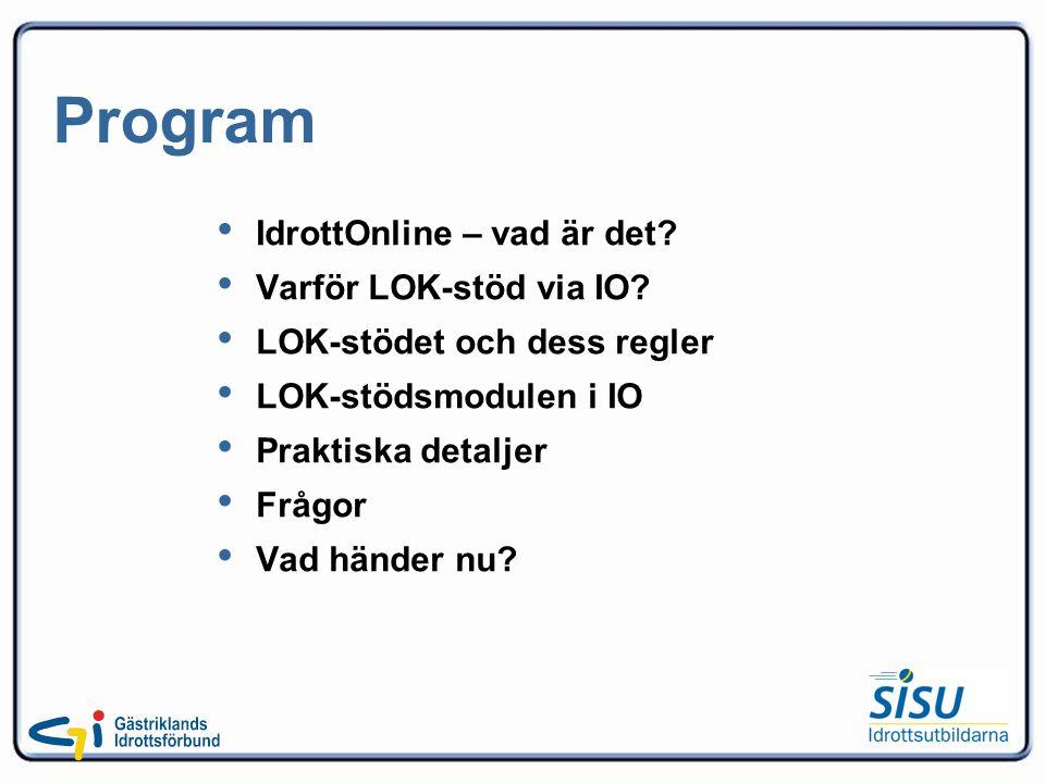Program IdrottOnline – vad är det. Varför LOK-stöd via IO.