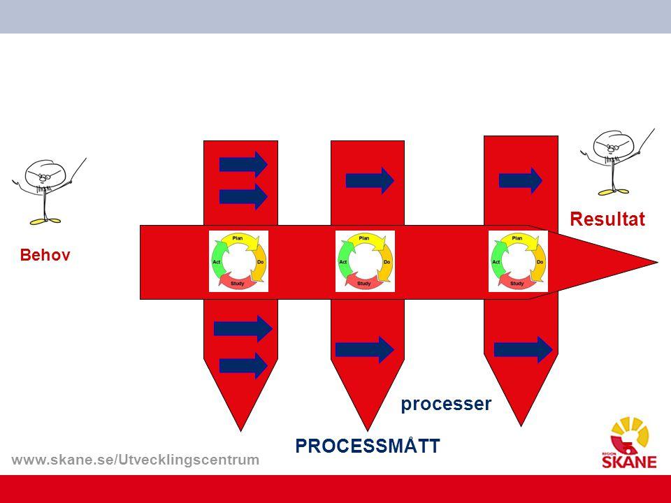 www.skane.se/Utvecklingscentrum Resultat Behov processer PROCESSMÅTT=