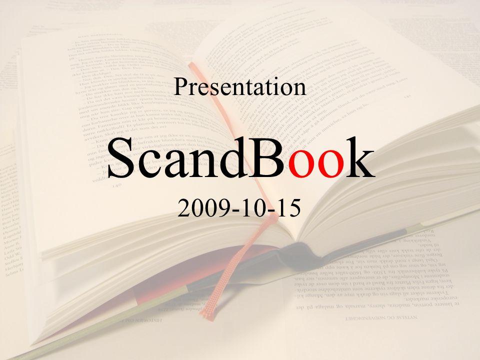 Presentation ScandBook 2009-10-15