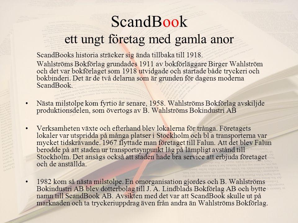 ScandBook ett ungt företag med gamla anor ScandBooks historia sträcker sig ända tillbaka till 1918.