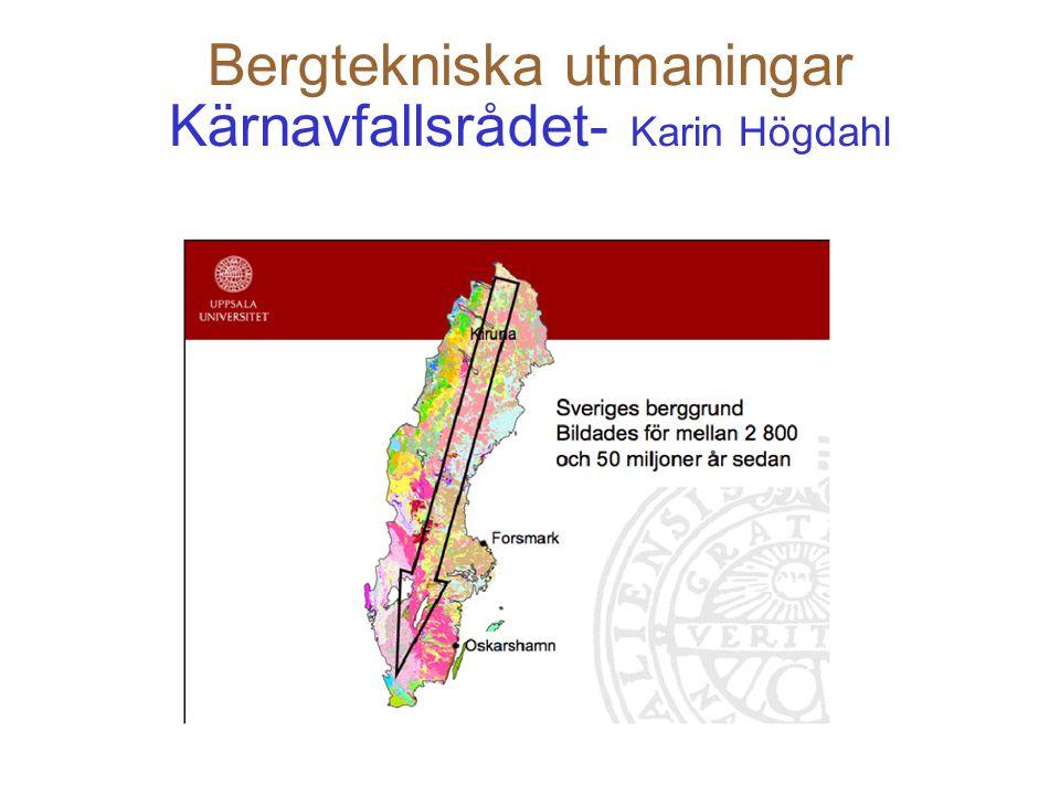 Bergtekniska utmaningar LKAB - Lars Malmgren Det förekommer i gruvan det som man kallar smällberg alltså spjälkning.