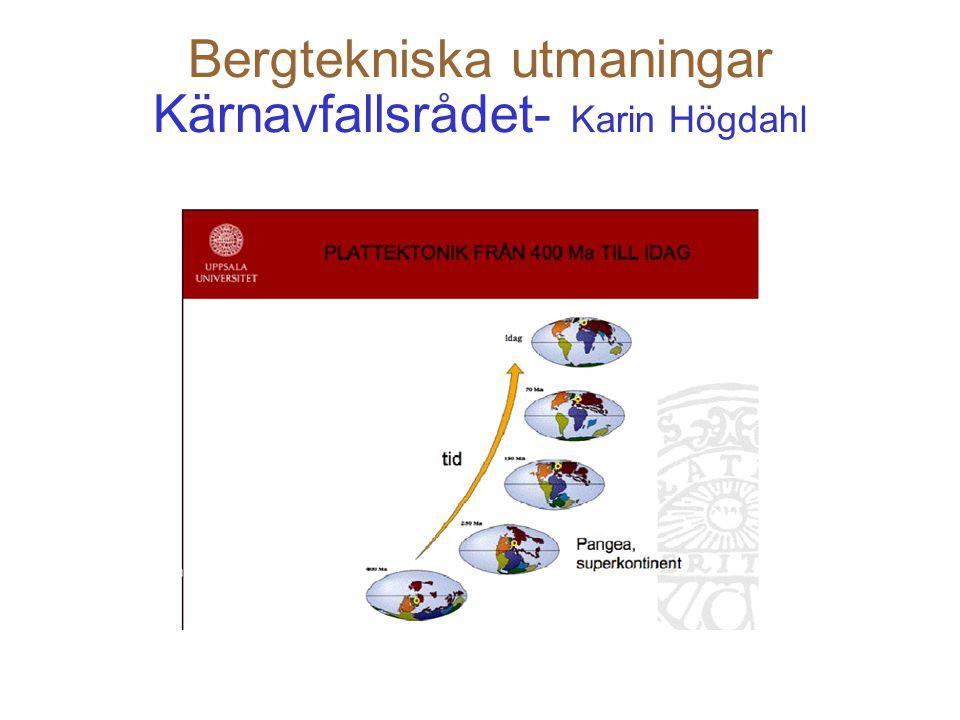 29 Bergtekniska utmaningar SSM - Bengt Hedberg Bengt Hedberg: inom detta område bevakar SSM två av IAEA:s projekt GEOSAF och PRISM GEOSAF – byggteknik för geologiska förvar PRISM – byggteknik för ytförvar