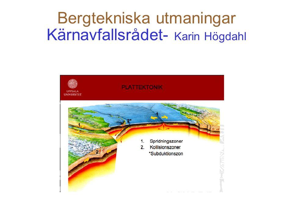 20 Bergtekniska utmaningar LKAB - Lars Malmgren LKAB har erfarenhet av bergförstärkning.