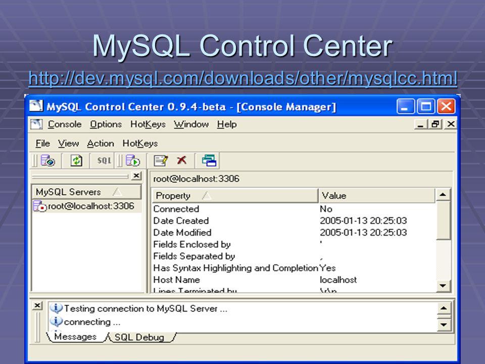 29 MySQL Control Center http://dev.mysql.com/downloads/other/mysqlcc.html