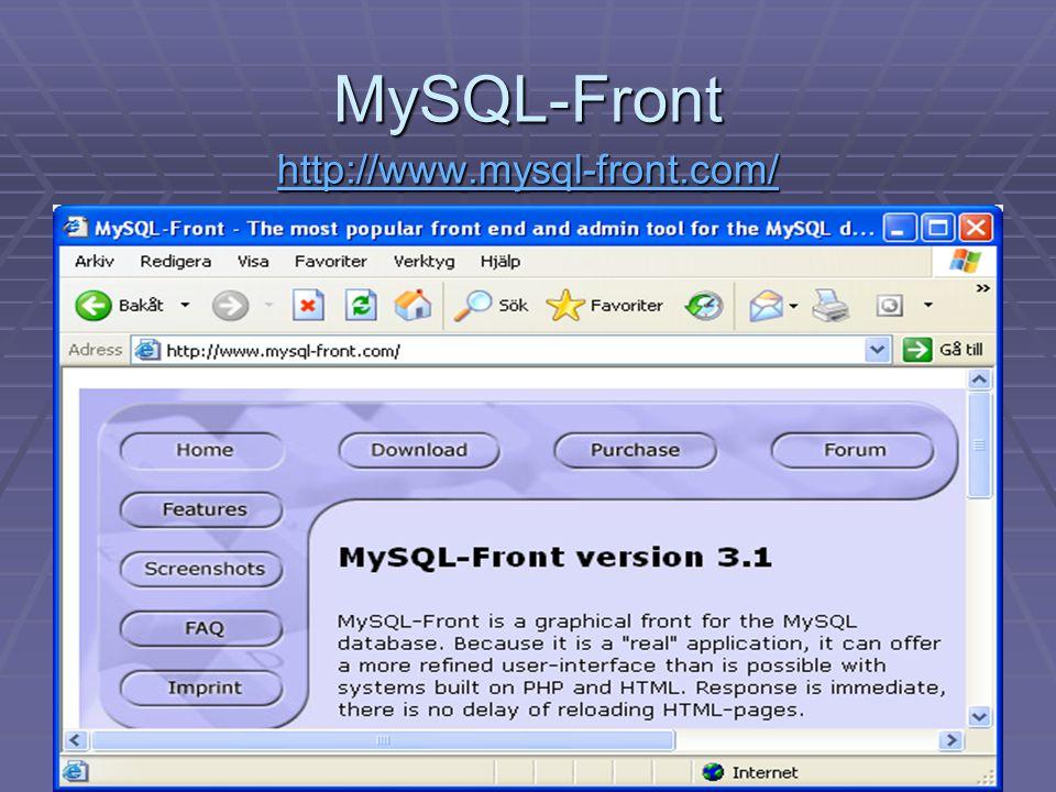 30 MySQL-Front http://www.mysql-front.com/