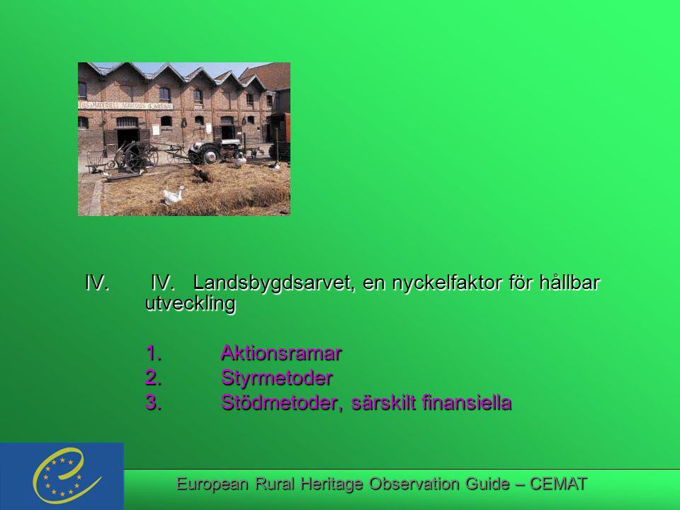 European Rural Heritage Observation Guide – CEMAT IV.
