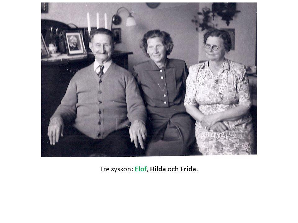 Tre syskon: Elof, Hilda och Frida.