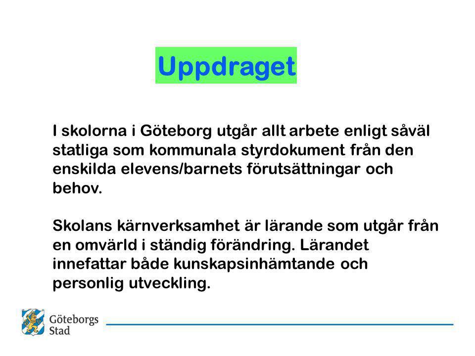I skolorna i Göteborg utgår allt arbete enligt såväl statliga som kommunala styrdokument från den enskilda elevens/barnets förutsättningar och behov.