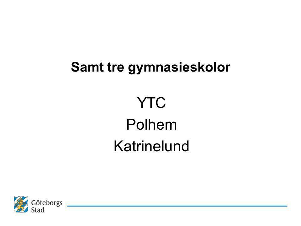 Samt tre gymnasieskolor YTC Polhem Katrinelund
