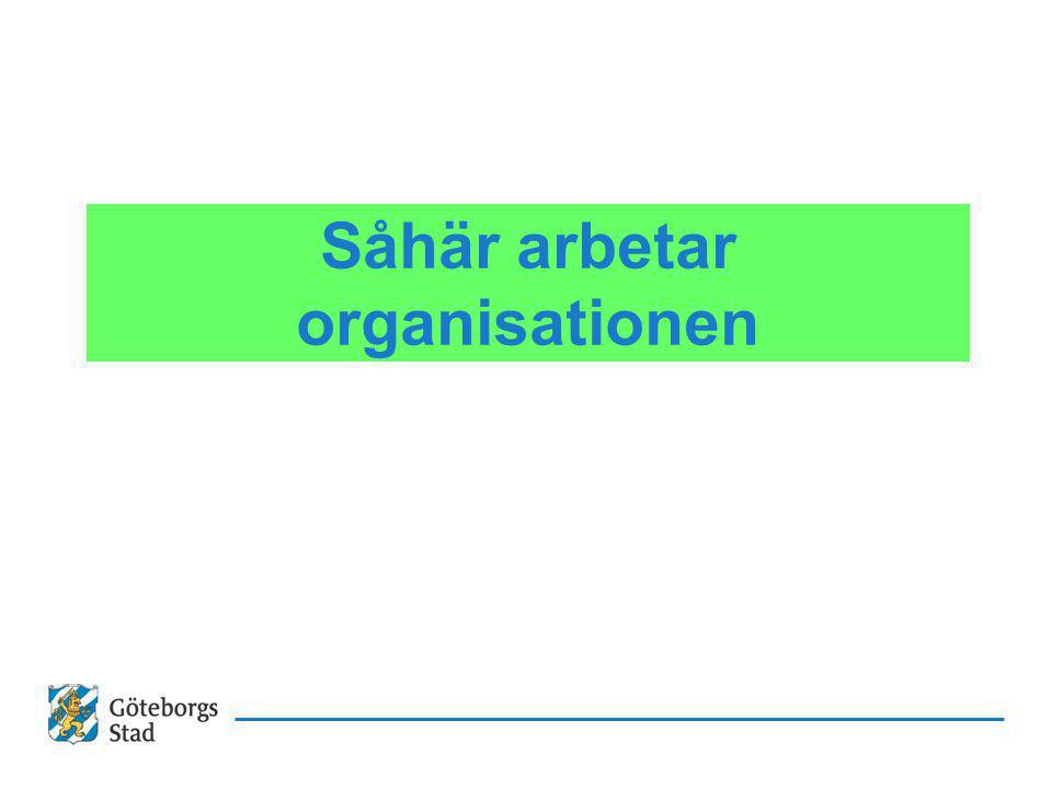 Såhär arbetar organisationen
