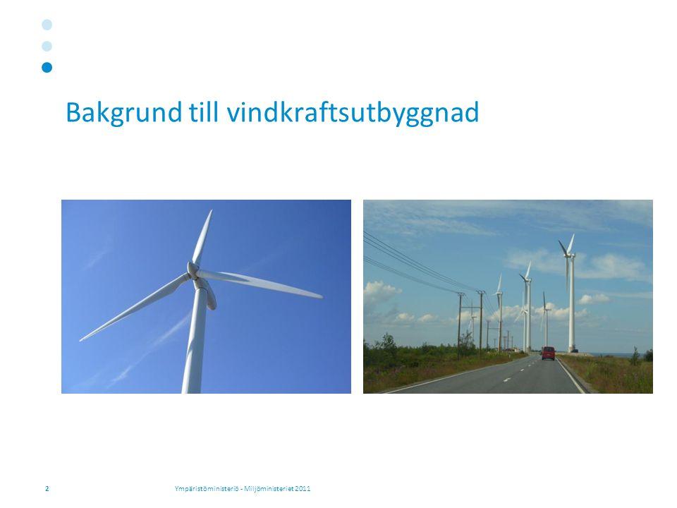 Bakgrund till vindkraftsutbyggnad 2Ympäristöministeriö - Miljöministeriet 2011