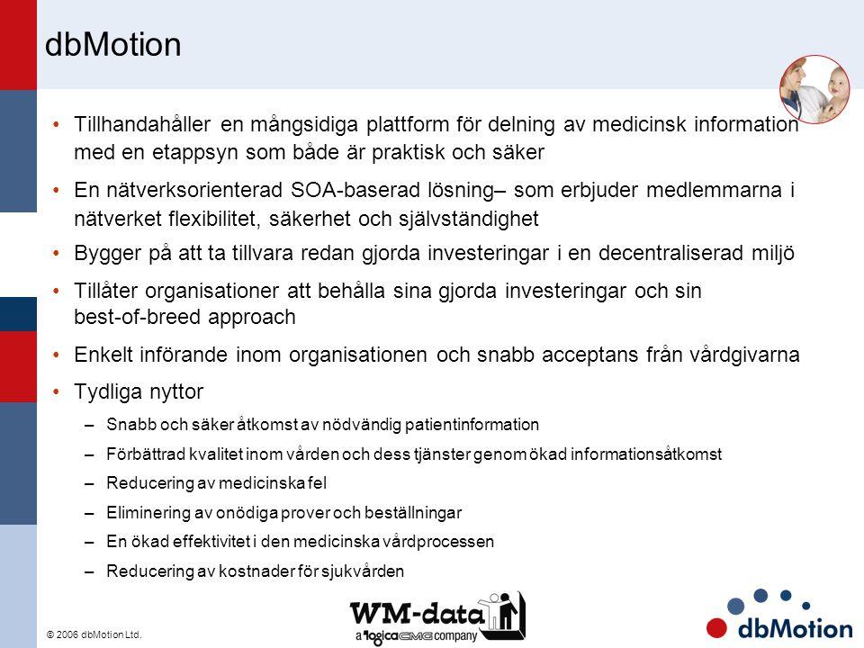 © 2006 dbMotion Ltd. dbMotion Tillhandahåller en mångsidiga plattform för delning av medicinsk information med en etappsyn som både är praktisk och sä