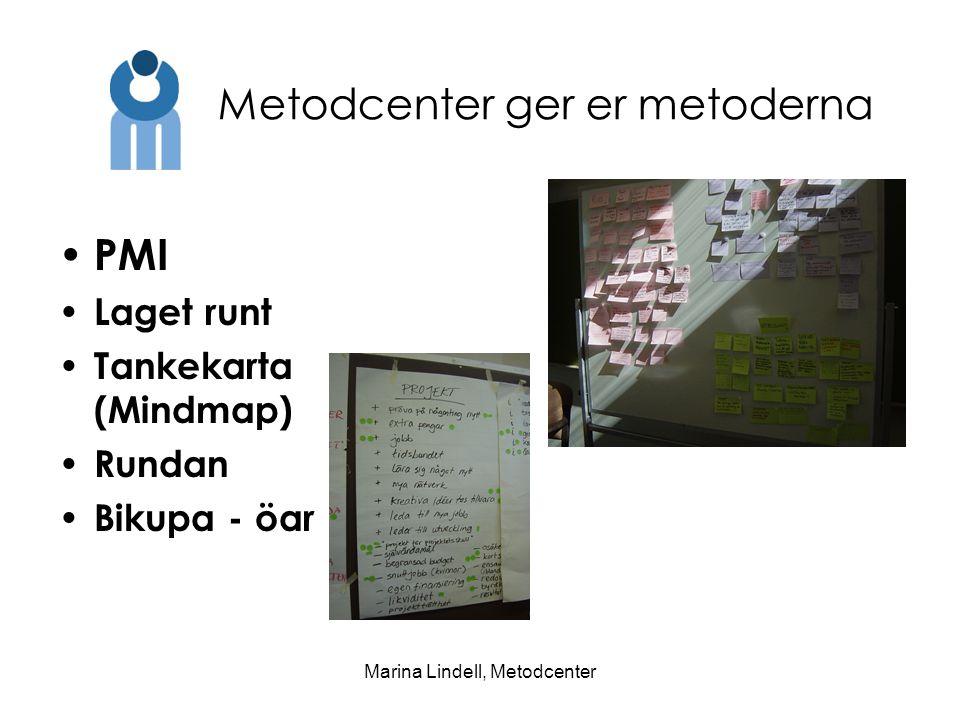 Marina Lindell, Metodcenter PMI Laget runt Tankekarta (Mindmap) Rundan Bikupa - öar Metodcenter ger er metoderna