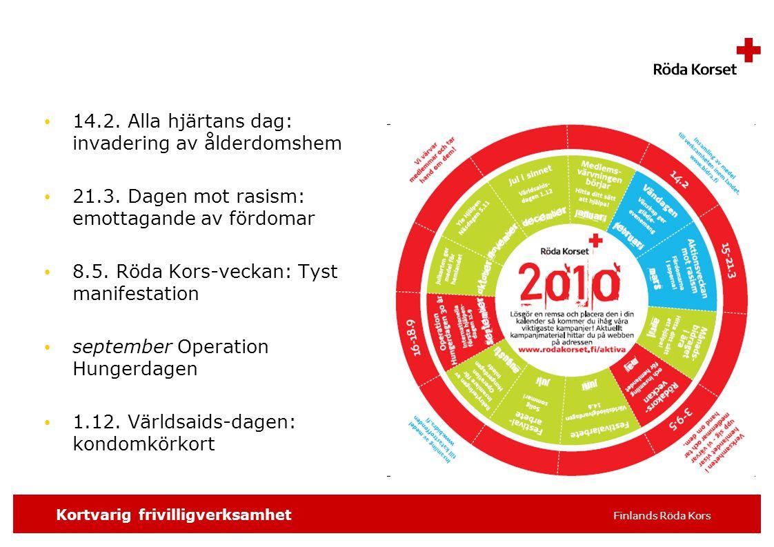 SKRIV SLAGORDET 16 pt t.ex. distrikt/avdelning, 8 Kortvarig frivilligverksamhet Finlands Röda Kors 14.2. Alla hjärtans dag: invadering av ålderdomshem