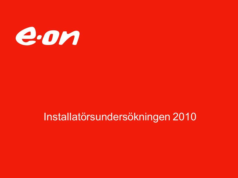 Installatörsundersökningen 2010