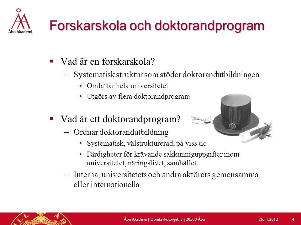Forskarskola och doktorandprogram  Vad är en forskarskola.