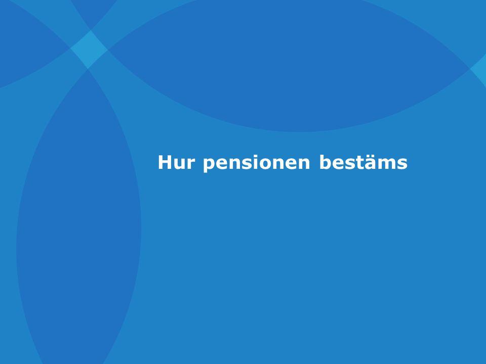 Hur pensionen bestäms